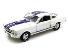 1966 Shelby Ford Mustang GT 350 SHELBY COLLECTIBLES Diecast 1:18 Scale White