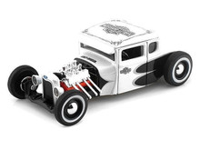 1929 Ford Model A HARLEY DAVIDSON Custom Series Diecast 1:24 White/Black MIB