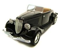 1934 Ford Roadster MOTORMAX AMERICAN CLASSICS Diecast 1:24 Black MIB