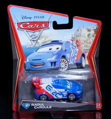 2010 Disney Pixar CARS 2 - RAOUL CAROULE #9 Mattel