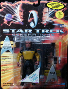 "STAR TREK GENERATIONS WORF Playmates 5"" Action Figure with Gear"
