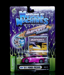 2001 Ford FR200 MUSCLE MACHINES Import Tuner Diecast 1:64 Scale Pink