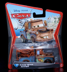 2010 Disney Pixar CARS 2 - Race Team MATER  #1 Mattel