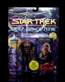 "STAR TREK DEEP SPACE NINE ""MORN"" Playmates 5"" Action Figure w/Gear"