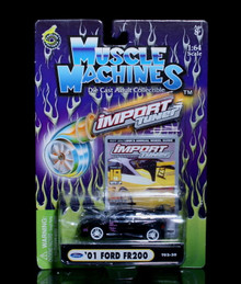 2001 Ford FR200 MUSCLE MACHINES Import Tuner Diecast 1:64 Scale Black