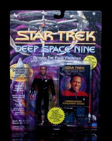 "STAR TREK DEEP SPACE NINE Benjamin Sisko Playmates 5"" Action Figure w/Gear"