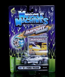 2001 Ford FR200 MUSCLE MACHINES Import Tuner Diecast 1:64 Scale Grey