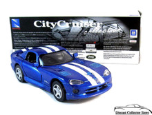 Dodge Viper GTS Coupe NewRay City Cruiser Diecast 1:32 Scale Blue FREE SHIPPING