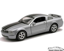 2005 Mustang GT NewRay Diecast 1:32 Scale Silver w/Black Stripes FREE SHIPPING
