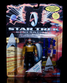 "STAR TREK GENERATIONS Geordi LaForge Playmates 5"" Action Figure w/Gear"