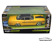 1970 Plymouth GTX MAISTO MUSCLE Diecast 1:24 Scale Yelllow