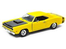 1969 Dodge Coronet SUPER BEE MotorMax Diecast 1:24 Scale Yellow MIB