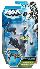 "MAX STEEL ULTRA BLAST LAUNCH MATTEL 6"" ACTION FIGURE NEW Free Shipping"