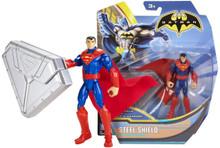 """SUPERMAN w/Steel Shield MATTEL 4"""" Action FIgure NEW"""