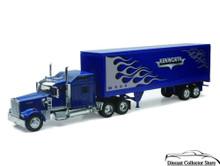 KENWORTH W900 Dry Van Semi Hauler Tractor Trailer NEWRAY Diecast 1:32 Scale Blue