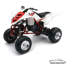 Yamaha Raptor 660K ATV 2005 New Ray Diecast 1:12 Scale White FREE SHIPPING