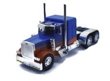 PETERBILT Model 389 CUSTOM Cab Tractor NEWRAY Diecast 1:32 Scale Blue w/Flames