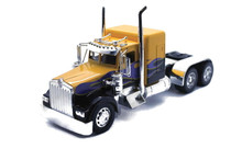 KENWORTH W900 CUSTOM Cab Tractor NEWRAY Diecast 1:32 Scale Yellow w/Flames