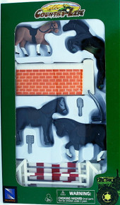 Country Life Farm Animals Equestrian Horses and Fencing 1:32 Scale NEWRAY