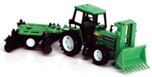 Country Life Farm Tractor with Disc Trailer 1:32 Scale NEWRAY Green MIB