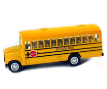 "School Bus with Pull Back Action 5"" Diecast  Approximate 1:43 Scale FREE SHIPPING"