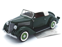 FRANKLIN MINT 1936 Ford Cabriolet Diecast 1:24 Scale Green w/Free Display