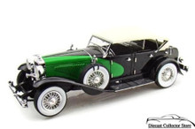 1934 Duesenberg Model J SIGNATURE MODELS Diecast 1:32 Black/Green FREE SHIPPING