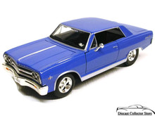 1965 Chevrolet Mailbu SIGNATURE MODELS Diecast 1:32 Scale Blue FREE SHIPPING