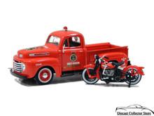 1948 Ford F1 Pickup 1936 EL Knucklehead HARLEY DAVIDSON Diecast 1:24