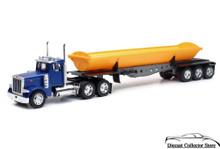 PETERBILT Model 379 Semi Hauler Side Dump NEWRAY Diecast 1:32 Scale Blue/Yellow