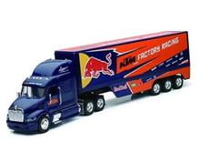 PETERBILT 387 Semi Hauler KTM Factory Racing Team Red Bull NEWRAY Diecast 1:32