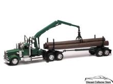 KENWORTH W900 Logging Tractor Trailer with Crane Picker NEWRAY Diecast 1:32