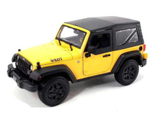 2014 Jeep Wrangler Willys MAISTO SPECIAL EDITION Diecast 1:18 Scale Yellow 31676