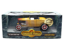 1932 Ford Street Rod American Muscle ERTL Diecast 1:18 Yellow w/Flames