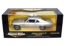 1969 Chevrolet Chevy Nova Ertl AMERICAN MUSLE Diecast 1:18 Scale Silver