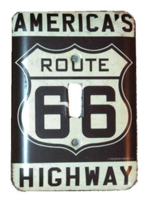 ROUTE 66 America's Highway Metal LIGHT SWITCH COVER / PLATE Garage Man Cave