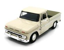 1966 Chevrolet C-10 Fleetside Pickup Truck MOTORMAX Diecast 1:24 Scale Cream