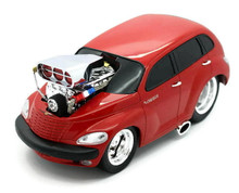 2000 Chrysler PT Cruiser MUSCLE MACHINES Diecast 1:18 Scale Red