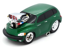 2000 Chrysler PT Cruiser MUSCLE MACHINES Diecast 1:18 Scale Green