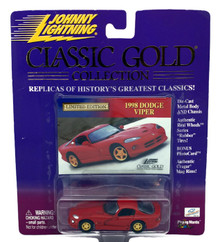 1998 Dodge Viper JOHNNY LIGHTNING Classic Gold Limited Edition Diecast 1:64