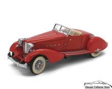 DANBURY MINT 1934 Packard V-12 Lebaron Speedster Diecast 1:24 Scale Red