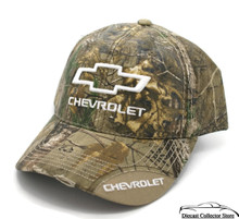 Hat - Chevrolet RealTree Camouflage Ball Cap Distressed Bill FREE SHIPPING