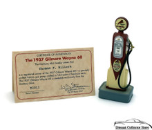 DANBURY MINT 1937 Gilmore Wayne 60 Gas Pump with Certificate 1:24 Scale