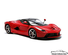 FERRARI LaFerrari Hot Wheels Diecast 1:18 Scale Red
