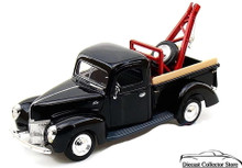 1940 Ford Pickup Tow Truck Wrecker MOTORMAX Diecast 1:24 Scale Black