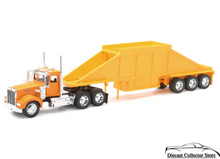 KENWORTH W900 Pot Belly Dump Tractor Trailer Semi NEWRAY Diecast 1:32
