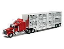 Kenworth W900 With Pot Belly Livestock Trailer NEWRAY Diecast 1:32 Scale