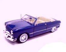 1949 Ford Convertible MAISTO SPECIAL EDITION Diecast 1:18 Scale Metalic Blue