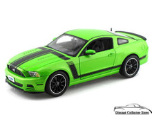 2013 Ford Mustang Boss 302 SHELBY COLLECTIBLES Diecast 1:18 Scale Lime Green
