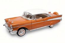 1957 Chevrolet Bel Air Hdtp ROAD SIGNATURE Diecast 1:18 Scale Golden Brown